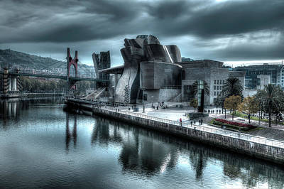 The Guggenheim Museum Bilbao Surreal Poster