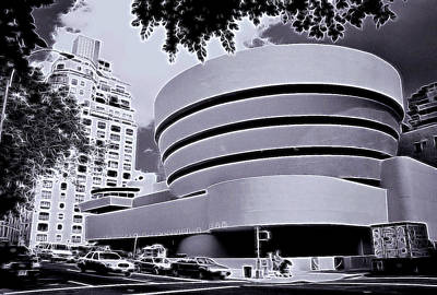 The Guggenheim Black And White Poster