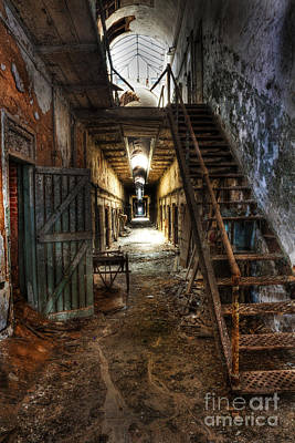 The Hallway Of Broken Dreams - Eastern State Penitentiary - Lee Dos Santos Poster by Lee Dos Santos