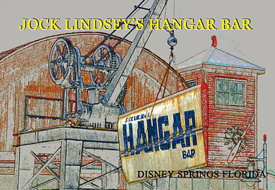 The Hangar Bar Poster Work A Poster by David Lee Thompson