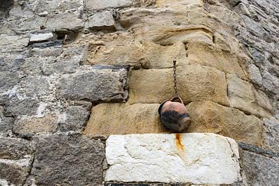 The Hanging Jar - Rough Weathered Stones Rust And Ceramics Poster by Georgia Mizuleva
