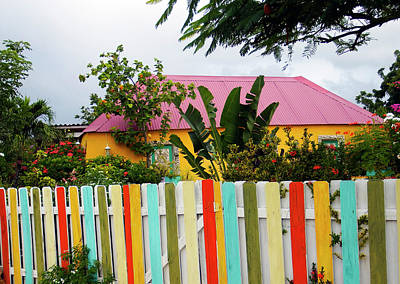 Poster featuring the photograph The Happy House, Island Of Curacao by Kurt Van Wagner
