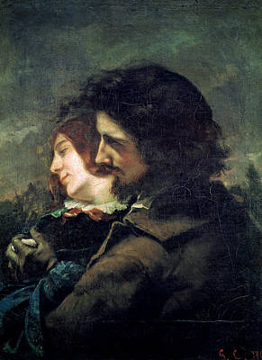 The Happy Lovers Poster by Gustave Courbet