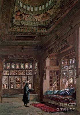 The Harem Of Sheikh Sadat, Cairo, 1870 Poster
