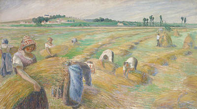 The Harvest Poster by Camille Pissarro