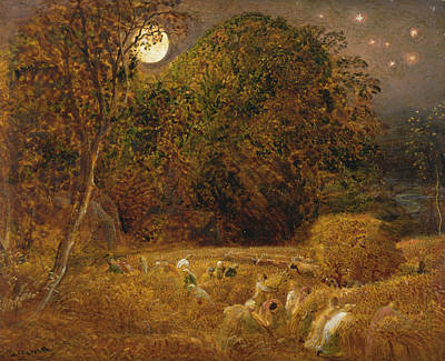 The Harvest Moon Poster by Samuel Palmer