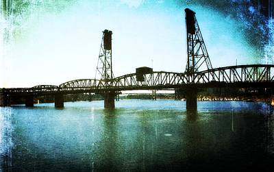 The Hawthorne Bridge Poster by Cathie Tyler