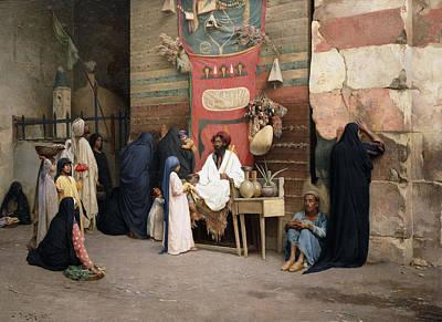 The Healer, 1891 Poster by Ludwig Deutsch