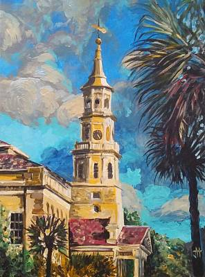 Poster featuring the painting The Heart Of Charleston by Jennifer Hotai