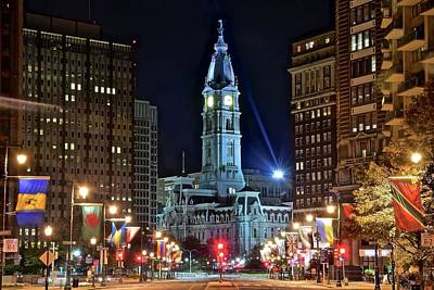 The Heart Of Philadelphia  Poster by Frozen in Time Fine Art Photography