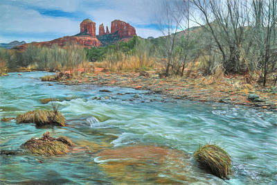 The Heart Of Sedona Poster by Donna Kennedy