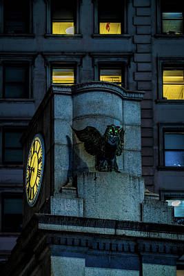 Poster featuring the photograph The Herald Square Owl by Chris Lord