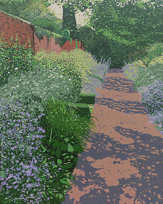 The Herb Garden Poster by Malcolm Warrilow