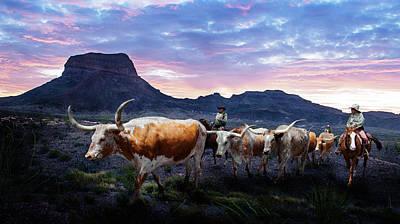 Texas Longhorns Blue Poster