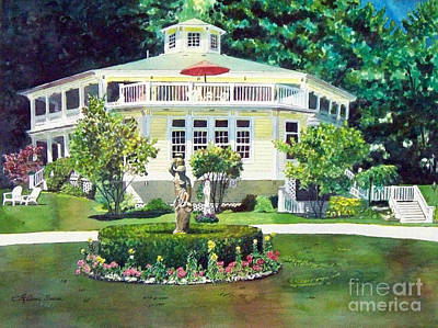 Poster featuring the painting The Hexagon House by LeAnne Sowa