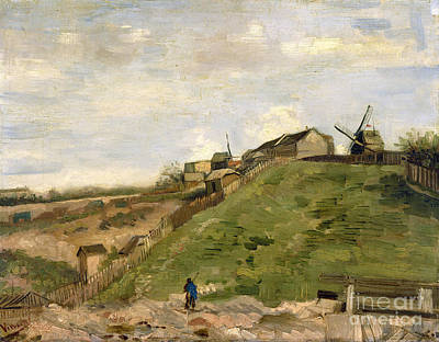 The Hill Of Montmartre With Stone Quarry Poster by Van Gogh