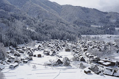 The Historic Village Of Shirakawa-go In Winter Poster