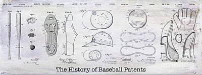 The History Of Baseball Patents Poster by Jon Neidert