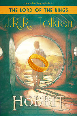 The Hobbit Lord Of The Rings Book Cover Movie Poster Art 1 Poster by Nishanth Gopinathan