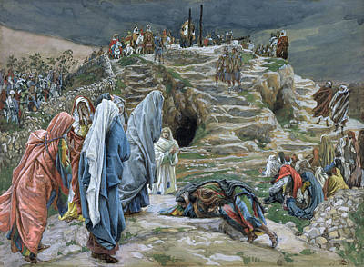 The Holy Women Stand Far Off Beholding What Is Done Poster by James Jacques Joseph Tissot