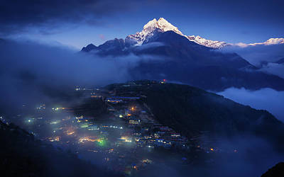 The Home Of Mountain Spirits Poster by Yuka Ogava
