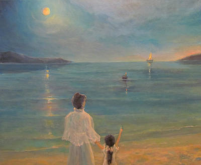 Poster featuring the painting The Homecoming by Donna Tucker