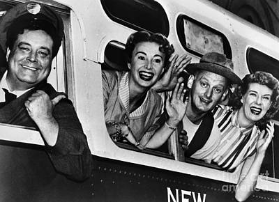 Poster featuring the photograph The Honeymooners, C1955 by Granger