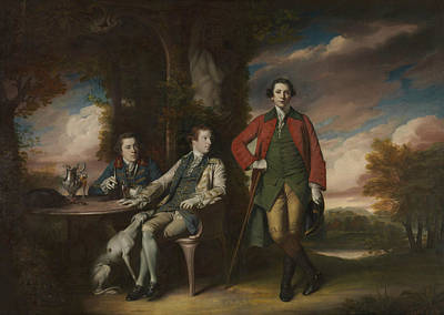 The Honorable Henry Fane With Inigo Jones And Charles Blair Poster by Joshua Reynolds
