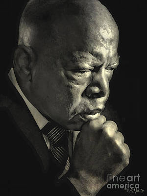 The Honorable John Lewis Poster by Walter Oliver Neal