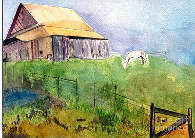The Horse Barn Poster by Sandy McIntire