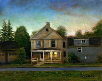Poster featuring the painting The House Next Door by Wayne Daniels