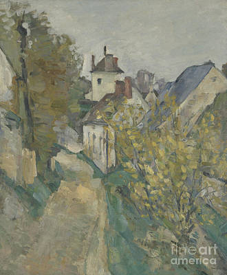 The House Of Dr Gachet In Auvers Sur Oise Poster by Paul Cezanne