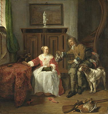 The Hunter S Present, 1661 Poster by Gabriel Metsu