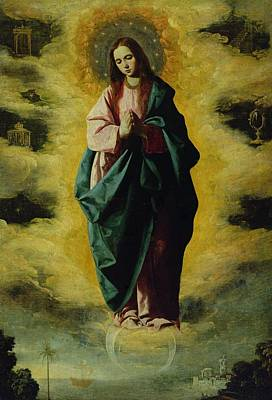 The Immaculate Conception Poster by Francisco de Zurbaran