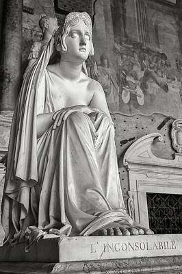 The Inconsolable Statue At Pisa Poster