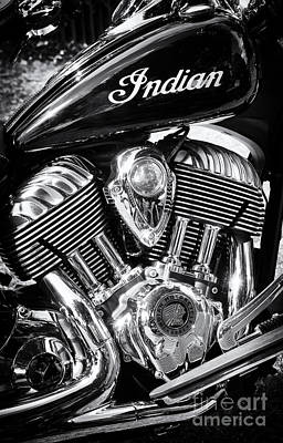 The Indian Chief Motorcycle Poster by Tim Gainey