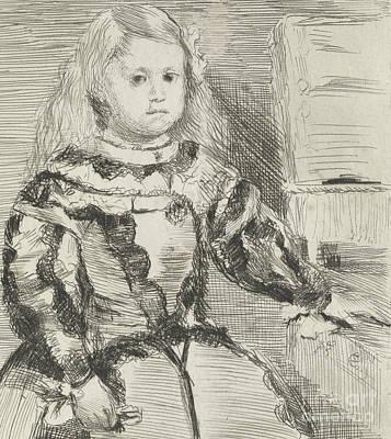 The Infanta Margarita Poster by Edgar Degas