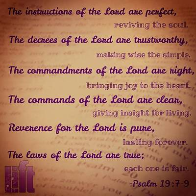 The Instructions Of The Lord Are Poster