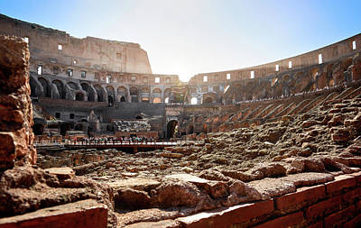 The Interior Of The Roman Coliseum Poster