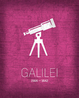 The Inventors Series 007 Galilei Poster by Design Turnpike