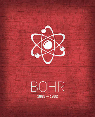 The Inventors Series 008 Bohr Poster by Design Turnpike
