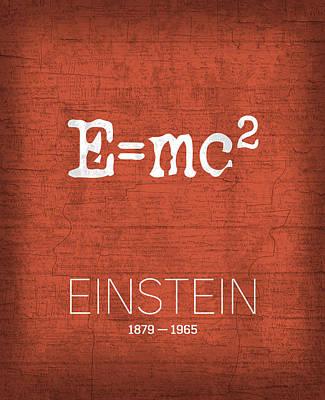 The Inventors Series 009 Einstein Poster