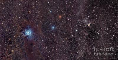 The Iris Nebula In Cepheus Poster by John Davis