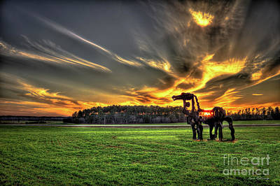 Poster featuring the photograph The Iron Horse Sunset by Reid Callaway