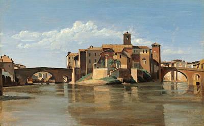 The Island And Bridge Of San Bartolomeo Poster