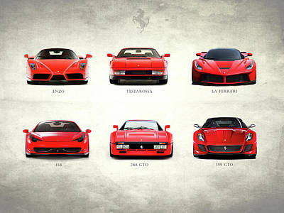 The Italian Supercar Collection Poster