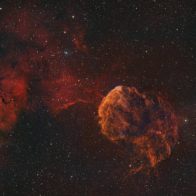 The Jellyfish Nebula Poster by Rolf Geissinger
