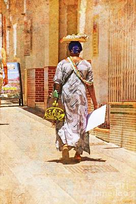 Poster featuring the photograph The Jewelry Seller - Malaga Spain by Mary Machare