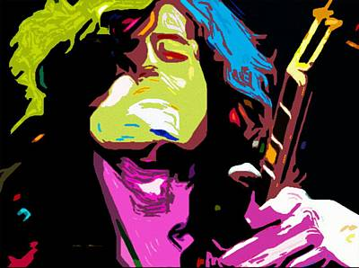 The Jimmy Page By Nixo Poster by Nicholas Nixo