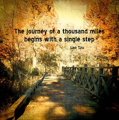The Journey - Textured Photo Art  Poster by Ann Powell